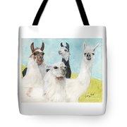 Llama Herd Camelid Farm Ranch Animal Art Tote Bag