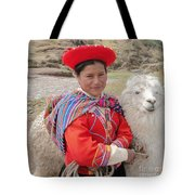Llama Lady Tote Bag