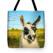 Llama Portrait Tote Bag