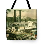 Loading Cotton On The Mississippi, 1870 Colour Litho Tote Bag