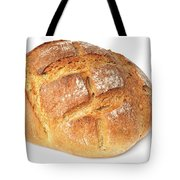 Loaf Of Bread On White Tote Bag