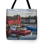 Lobster Boats At Motif 1 Tote Bag