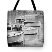 Lobster Boats In Bass Harbor And Bernard Maine  Tote Bag