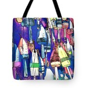 Lobster Buoy Colors Tote Bag