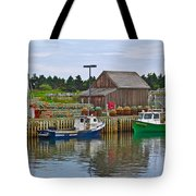 Lobster Fishing Baskets And Boats In Forillon Np-qc Tote Bag