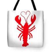 Lobster Love Heart Feelers Tote Bag