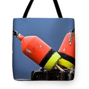 Lobster Pot Buoys Tote Bag