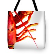 Lobster - The Right Side Tote Bag by Sharon Cummings