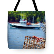 Lobster Trap In Maine Tote Bag