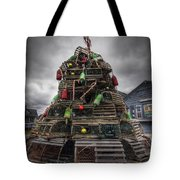 Lobster Trap Tree Tote Bag by Eric Gendron