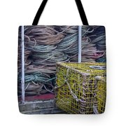 Lobster Traps And Ropes Tote Bag by Stuart Litoff
