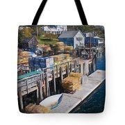 Lobster Traps At New Harbor Tote Bag