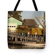 Lobster Traps On Dock Tote Bag
