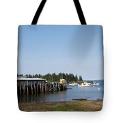 Lobster Wharf Tote Bag
