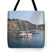 Local Fishing Boats Tote Bag