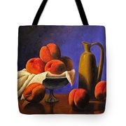 Local Peaches Oil Painting Tote Bag