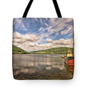 Loch Fyne Digital Painting Tote Bag