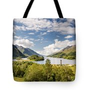 Loch Shiel And Glenfinnan Monument Tote Bag