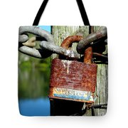 Lock And Chain Tote Bag