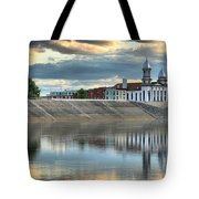 Lock Haven In The Susquehanna Tote Bag