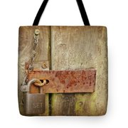 Locked Shut Tote Bag
