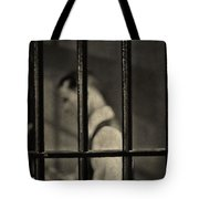 Locked Up Black And White Tote Bag