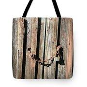 Locked Wood Tote Bag