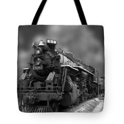 Locomotive 639 Type 2 8 2 Front And Side View Bw Tote Bag