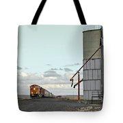Locomotive And Silos Tote Bag