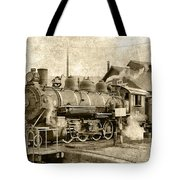 Locomotive No. 15 In The Yard Tote Bag