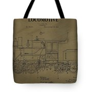 Locomotive Patent Postcard Tote Bag