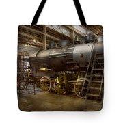 Locomotive - Repairing History Tote Bag