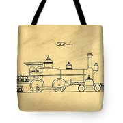 Locomotive Support Patent Drawing From 1915 1 Tote Bag