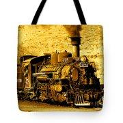 Sepia Locomotive Coal Burning Train Engine   Tote Bag