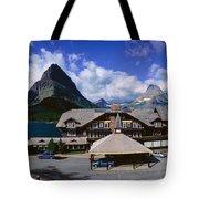 Lodge At Many Glacier, Glacier National Tote Bag