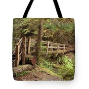 Log Bridge In The Rainforest Tote Bag