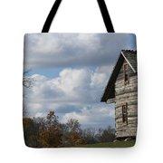 Log Cabin And November Sky Tote Bag