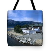 Log Cabin In Carcross Tote Bag