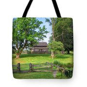 Log Cabin In The Trees Tote Bag