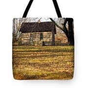Log Cabin On A Hill Tote Bag