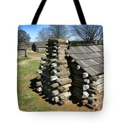 Log Cabins At Valley Forge Tote Bag