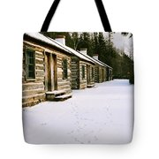 Log Cabins In Fort Wilkins Tote Bag