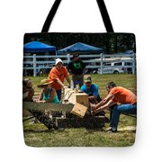 Log Cutting Competition Tote Bag