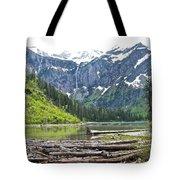 Log Jam In Avalanche Lake In Glacier Np-mt   Tote Bag