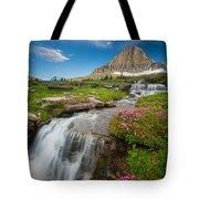 Logan Pass Cascades Tote Bag