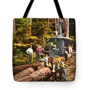 Logging With Steam Donkey Engine Near Olympia Washington Circa 1900 Tote Bag