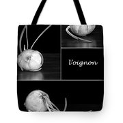 Onion Kitchen Art - L'oignon - Black And White Tote Bag