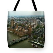 London England From The London Eye Tote Bag