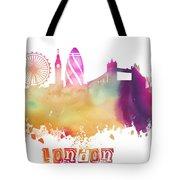 London England Skyline Pastel Tote Bag
