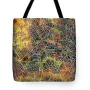 London Map Brown Tote Bag